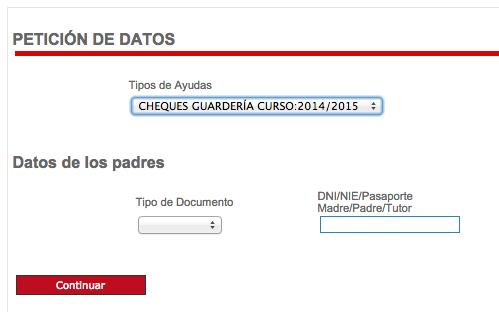 Cheque guardería 2014-15