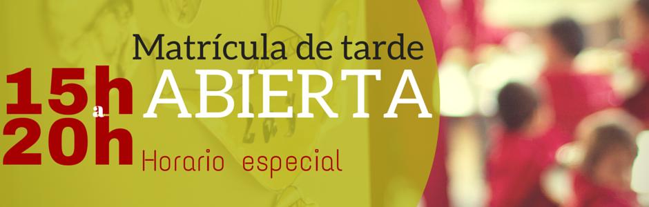 MATRÍCULA2016-2017ABIERTA